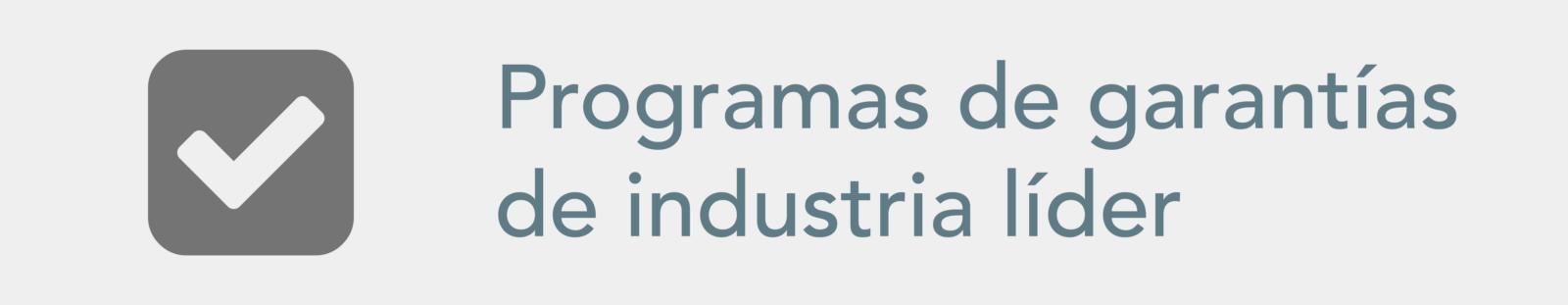 Programa de garantia de industria lider